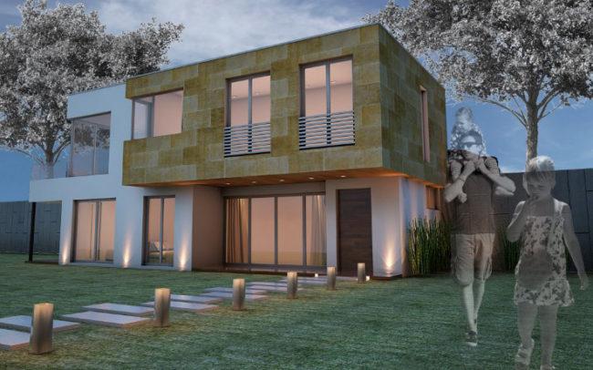 Vivienda Unifamiliar aislada de diseño Contemporáneo diseñada por nam arquitectos Poio.