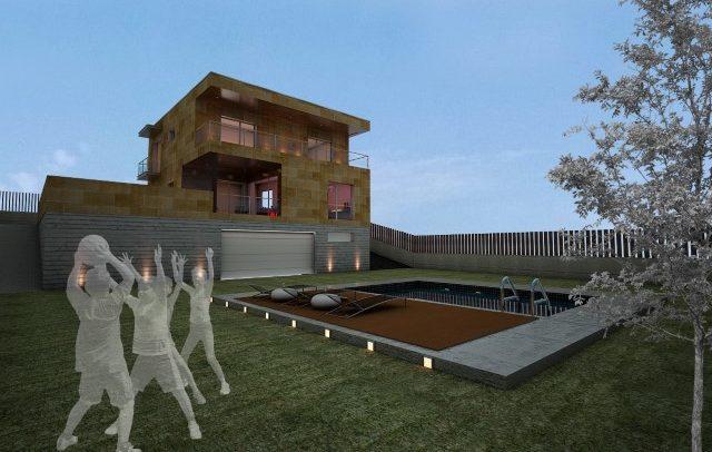 Vivienda Unifamiliar aislada de diseño Contemporáneo diseñada por nam arquitectos Vigo.