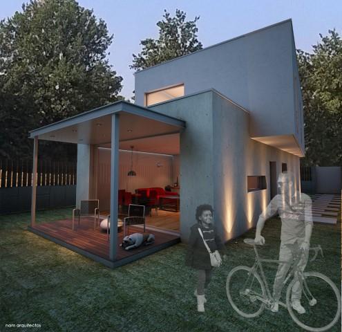 Proyecto para vivienda unifamiliar prefabricada en hormigón.